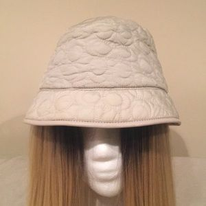 COACH Cream Bucket Hat
